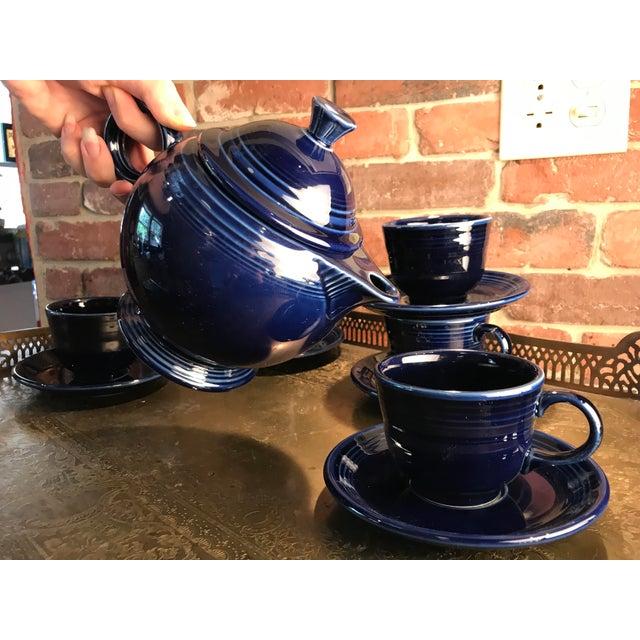 1992 Fiesta Navy Tea Set - 14 Pieces For Sale - Image 5 of 11