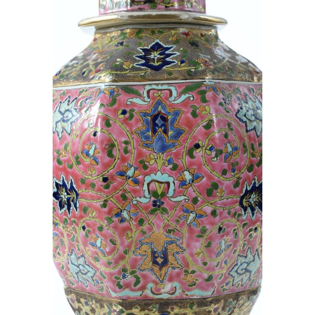 Chinese 19th Century Famille Pink Porcelain Urn For Sale - Image 9 of 10
