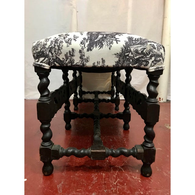 French Louis XIII Style Bench For Sale - Image 6 of 7