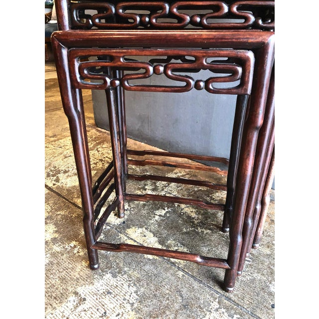 Wood Chinese Rosewood Nesting or Quartetto Tables - Set of 4 For Sale - Image 7 of 10