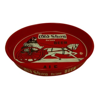"Vintage Circa 1950 ""Old Shay"" Deluxe Beer Ale Beverage Serving Tray"