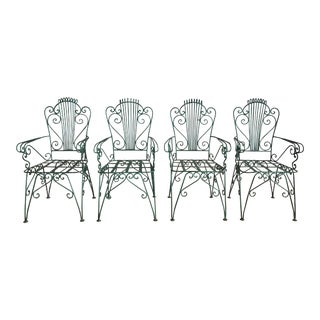 Midcentury French Garden Chairs For Sale