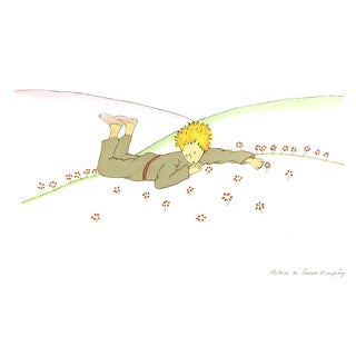 Antoine De Saint Exupery, Little Prince Dreaming (Md), Lithograph, Edition: 300, 2009 For Sale