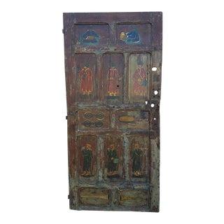 Vintage Asian Moroccan Multicolor Door