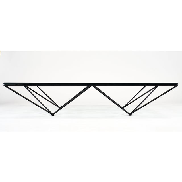Black 1980s Italian Paolo Piva Coffee Table For Sale - Image 8 of 10