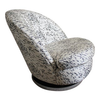 1970s Milo Baughman for Thayer Coggin Clam Lounge Chair For Sale