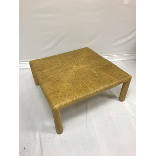 1970s Transitional Lacquered Grasscloth Coffee Table Preview