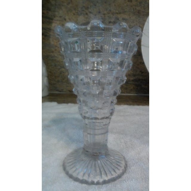 Art Deco Flared Glass Vase - Image 4 of 6