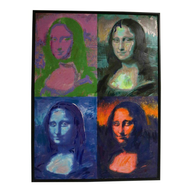 Giclee on Canvas Painting of Warhol's Mona Lisa For Sale