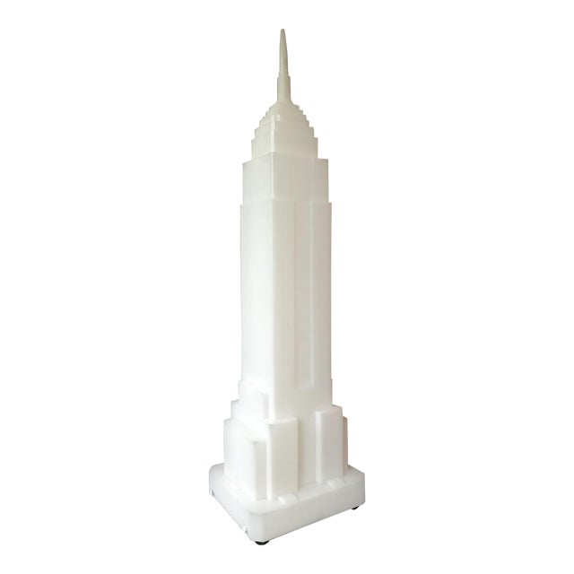 Vintage Post Modern 1980s Empire State Building Lamp by Takahashi Denson for Midori For Sale