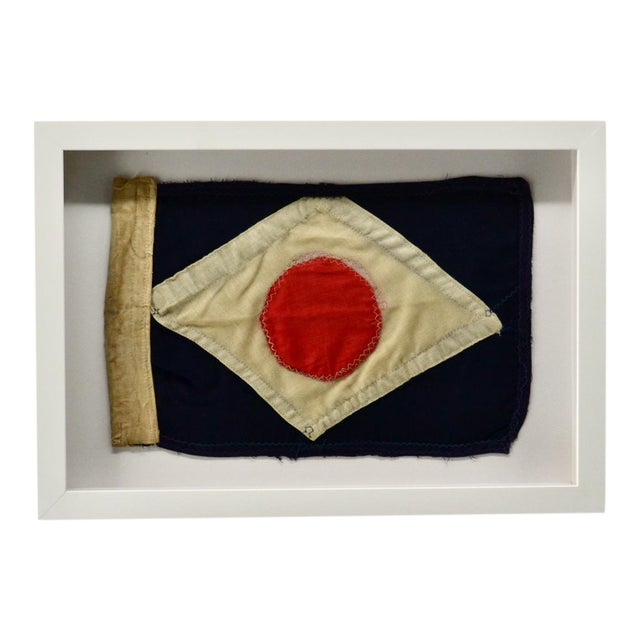Antique Yacht Signal Flag Hand Sewn For Sale