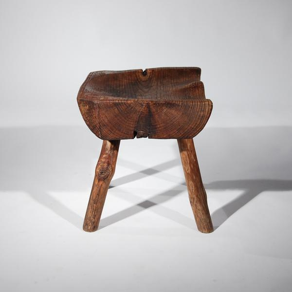 Small Wooden Carved Stool For Sale - Image 4 of 11