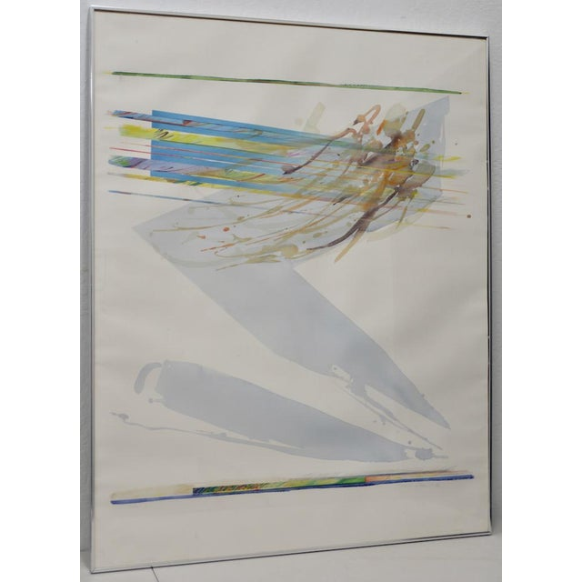 """Watercolor Peter Kitchell """"Zorro"""" Monumental Abstract Watercolor c.1979 For Sale - Image 7 of 7"""