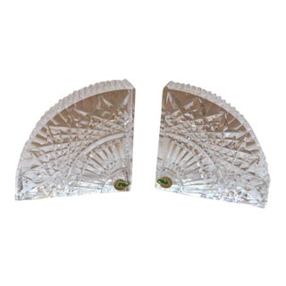 Waterford Crystal Wedge Bookends - a Pair