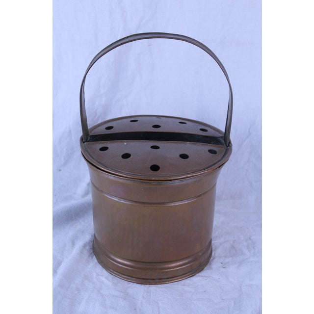 Belgian 20th Century Belgian Copper Flower Pail For Sale - Image 3 of 5
