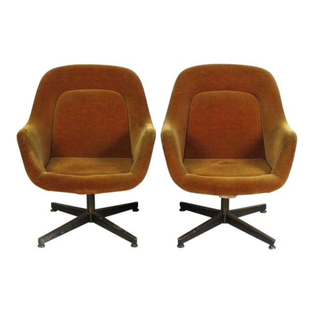 Mid Century Modern Armchairs: Vintage Knoll International Mid-Century Modern Armchairs