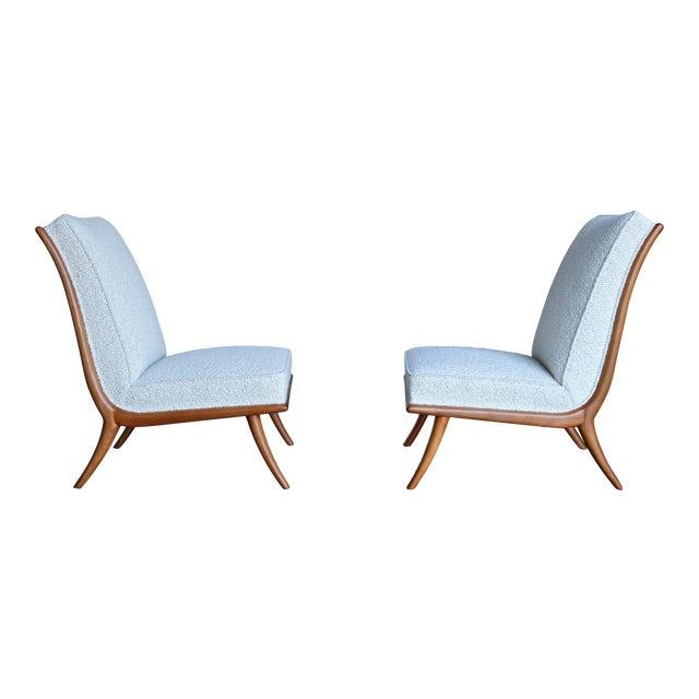 t.h. Robsjohn-Gibbings Slipper Chairs for Widdicomb Circa 1955 For Sale