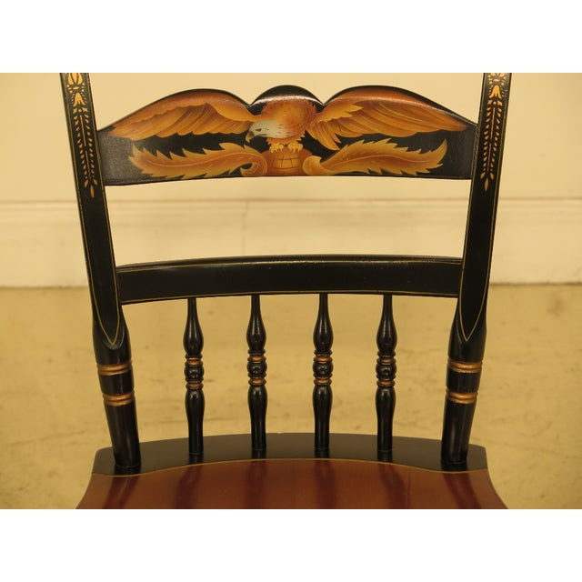 This is a vintage HITCHCOCK eagle stenciled maple side chair. The piece is about 40 years old. Details: High Quality...