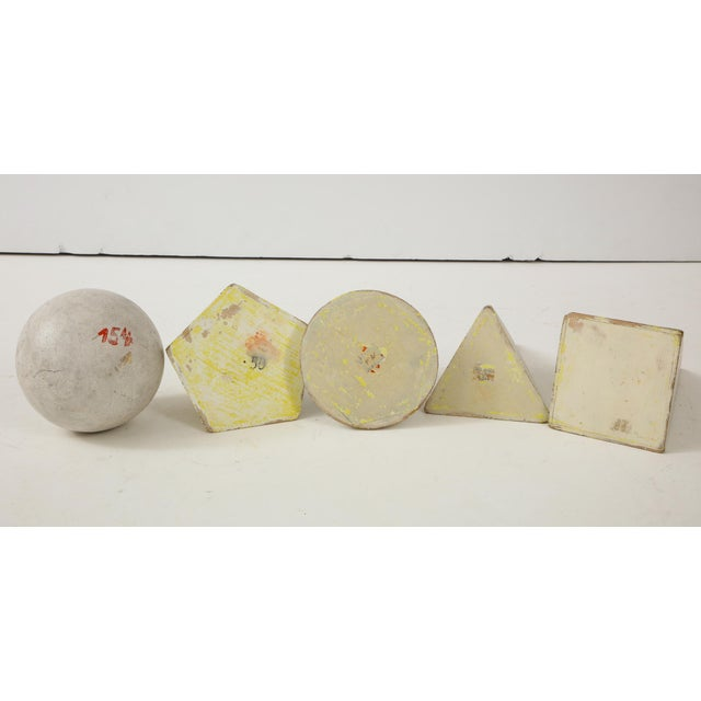 Modern White Painted Wooden Geometric Molds - Set of 5 For Sale - Image 3 of 10