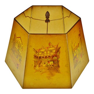 Vintage Clyde Cole English Inn Lampshade With Finial For Sale