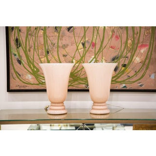 French Hand Blown Torchiere Lamps - a Pair Preview