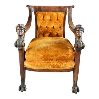 R J Horner Victorian Carved Wood Chair For Sale