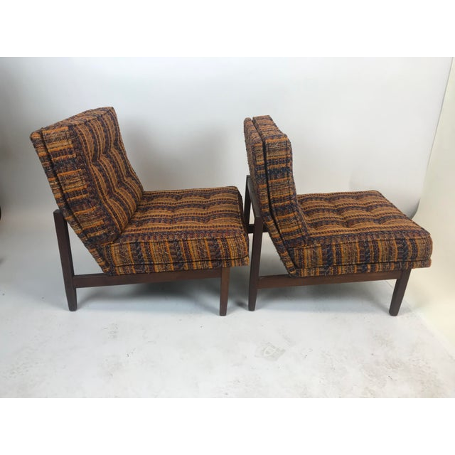 1960s Early Florence Knoll Lounge Slipper Chairs - a Pair For Sale - Image 5 of 12