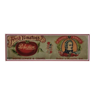 Original Vintage Canadian 1900s Label, Tomatoes For Sale