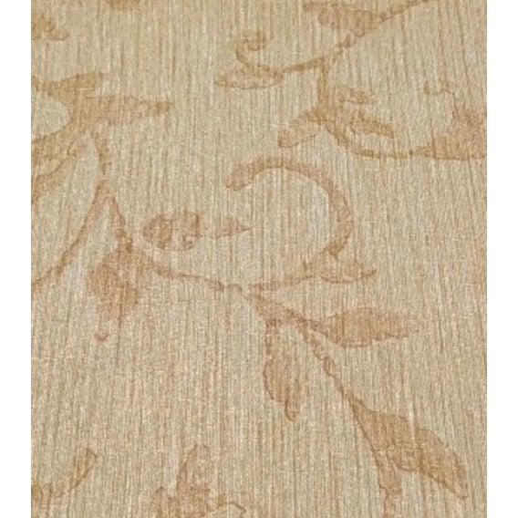 Beige Neutral Floral Wallpaper For Sale