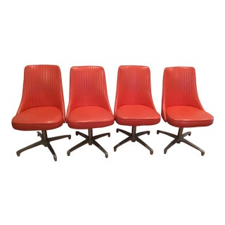 Chromcraft 69 Swivel Dining Chairs - Set of 4