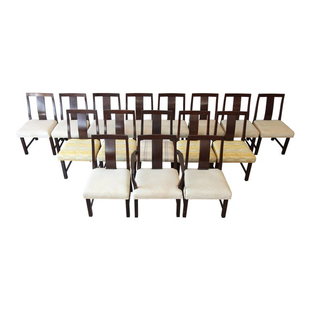 Edward Wormley for Dunbar Mid-Century Modern Dining Chairs, Set of 16 For Sale