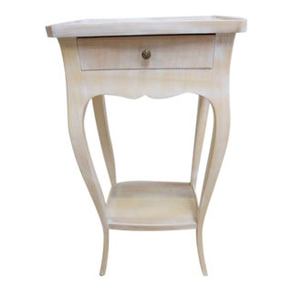 Petite French Carved Chic Regency Italian End Table / Night Stand