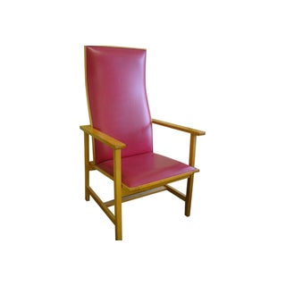 Mid-Century High Back Maple Armchair