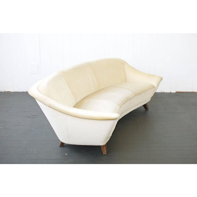 Mid-Century Modern 1950s Curved German Sofa For Sale - Image 3 of 6