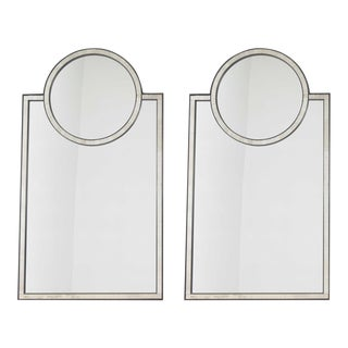 Baker Furniture Mosaic Mirrors - a Pair For Sale