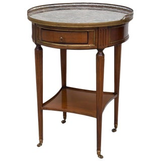 1950s Vintage Directoire Style Marble Top Gueridon For Sale