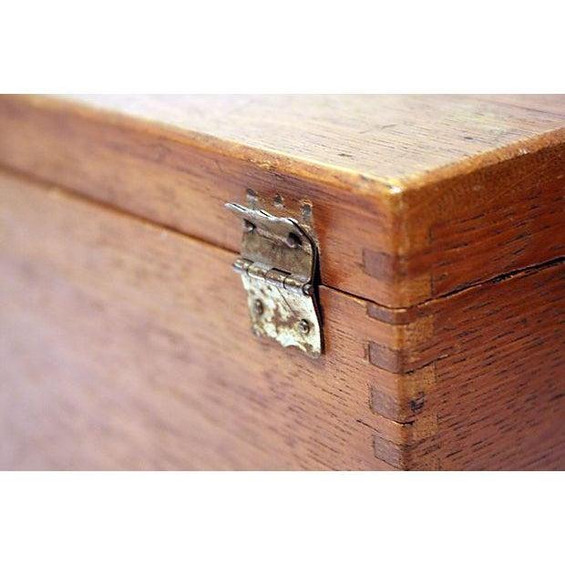 Antique Oak Storage Box - Image 6 of 7
