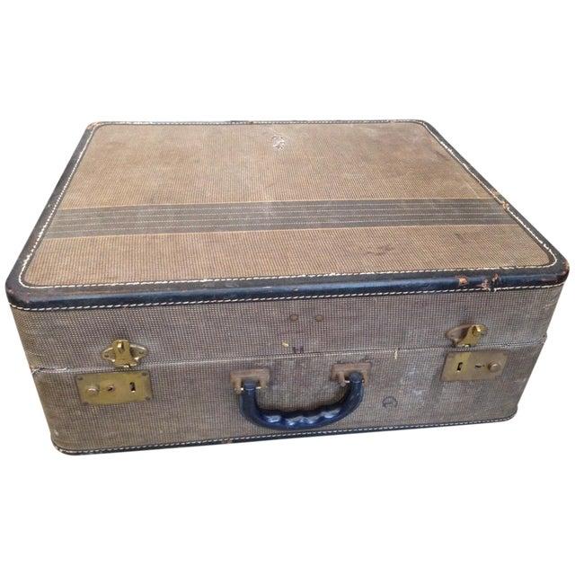 Vintage 1950s Tan Suitcase - Image 1 of 5
