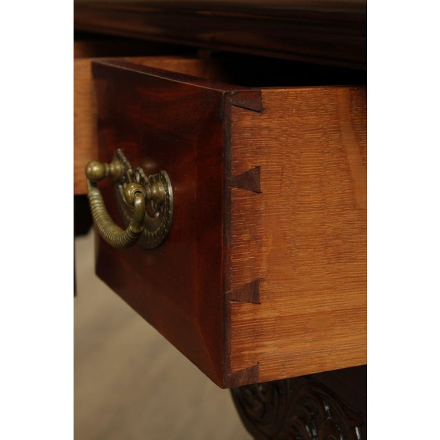 Brown Victorian Era Chippendale Style Antique Carved Ball & Claw Vanity For Sale - Image 8 of 13