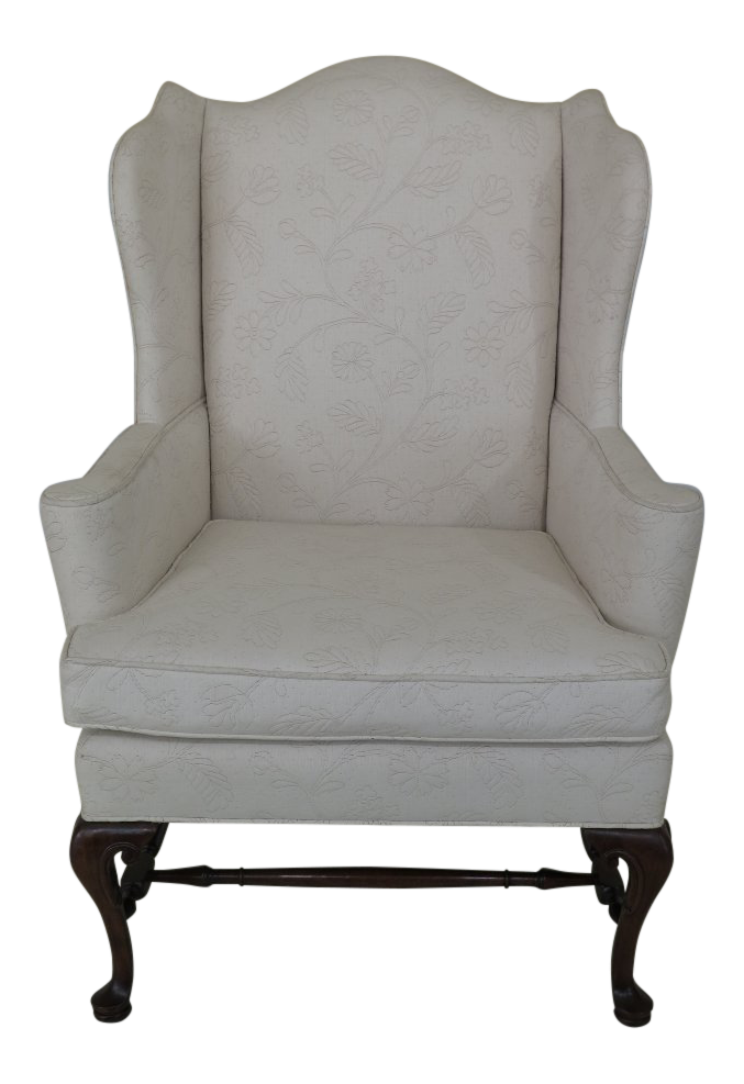Hickory Chair Co. Off White Upholstered Wing Chair For Sale  sc 1 st  Chairish & Hickory Chair Co. Off White Upholstered Wing Chair | Chairish