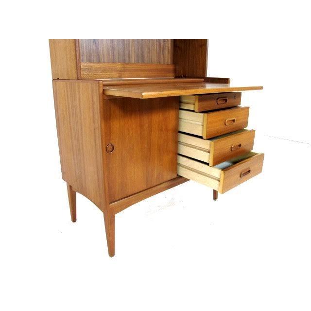Vintage Danish Modern Teak Secretary Bookcase - Image 3 of 4