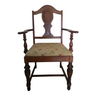 Early 1900's Brown Wooden Armchair For Sale