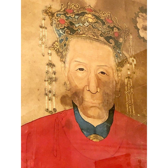 Monumental Ancient Ancestor Portraits / Chinese Paintings on Rice Paper - a Pair For Sale In New York - Image 6 of 13
