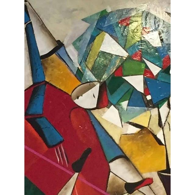 "Original David Schluss Painting ""Fantasia of Music"" For Sale - Image 4 of 8"