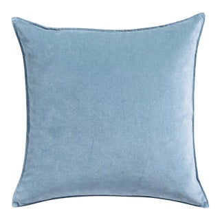 Contemporary Baby Blue Velvet Pillow Cover For Sale