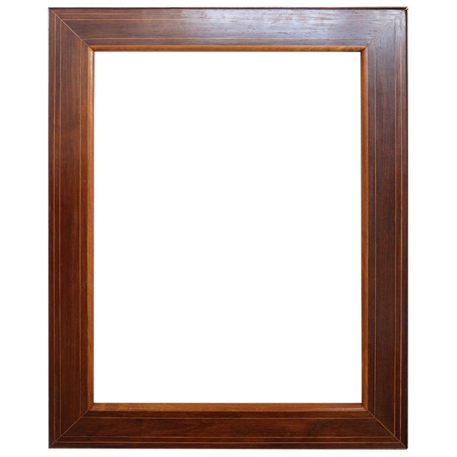 19th Century Italian Charles X Inlay Walnut Wood Frame For Sale