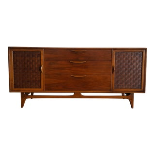 Warren Church for Lane Mid-Century Modern Walnut Credenza Dresser For Sale