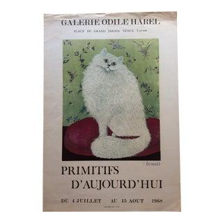 French Artist Jacqueline Benoit Original Art Exhibition Poster For Sale