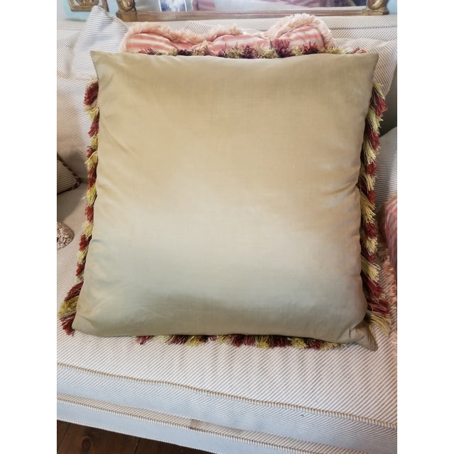 Large Aubusson Style Parrot Pillow For Sale In San Antonio - Image 6 of 10