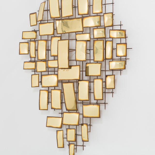 1970s A Large Polished Metal Wall Sculpture 1970s signed For Sale - Image 5 of 9